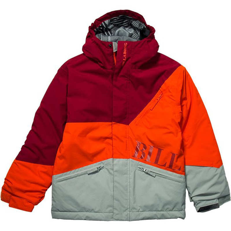 New Boys Billabong Buddy Jacket Tango Red