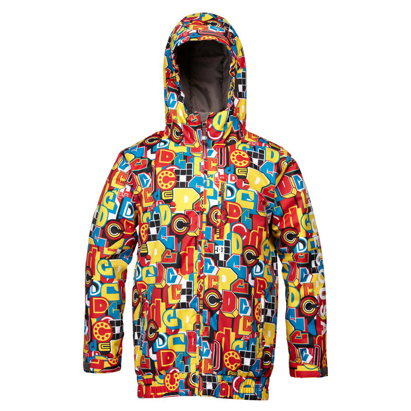 New Boys DC Shoes Ripley Jacket Red Blue Yellow