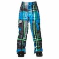 New Boys Quiksilver Porter Pant Blue Green Grey