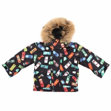 New Boys Quiksilver Shift Kids Jacket Black Cars
