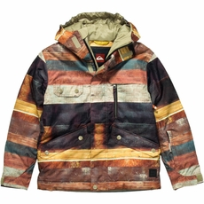 New Boys Quiksilver Travis Rice Raft Jacket Wood World
