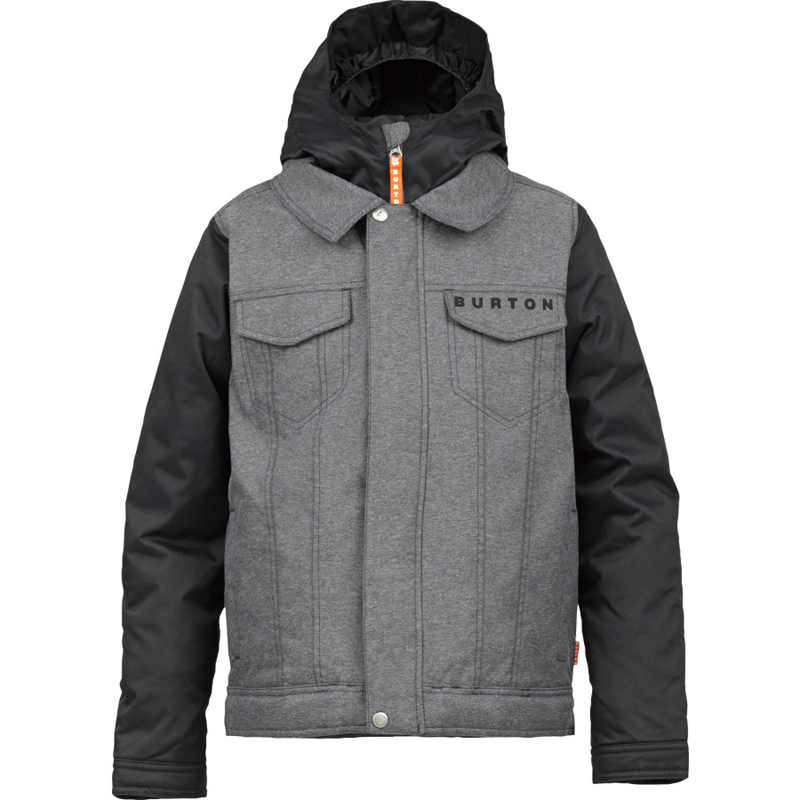 New Burton Denim Jacket Boys  Grey Black