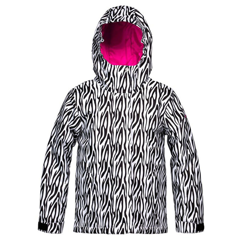 New Girls Roxy American Pie Print Jacket Zebra