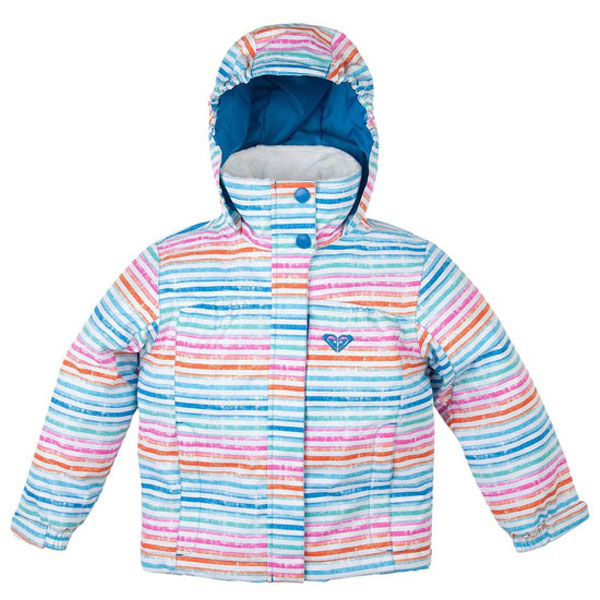 New Girls Roxy Mini Jetty Jacket Stripes