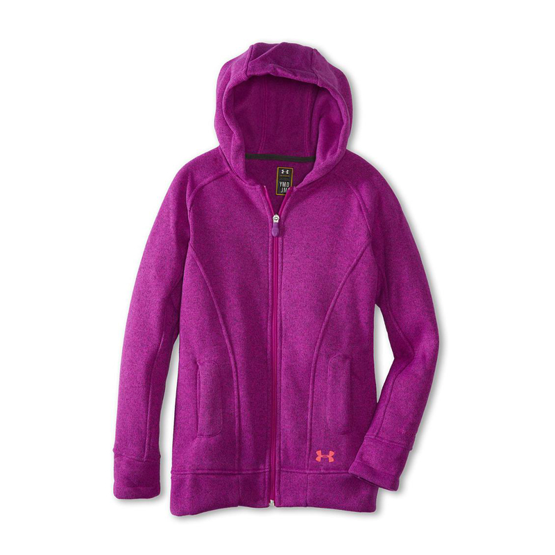New Girls Under Armor Wintersweet Hoodie Magenta