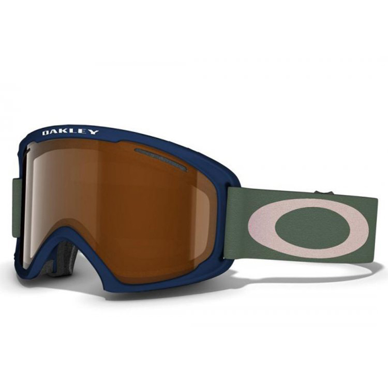 New Oakley O2 XL Medieval Blue Black iridium Goggles