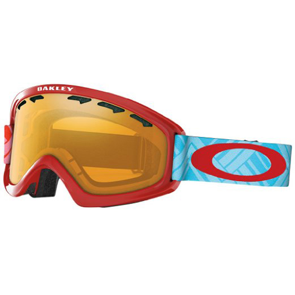 New Oakley O2 Xs Braided Blue Red Persimmon Goggles