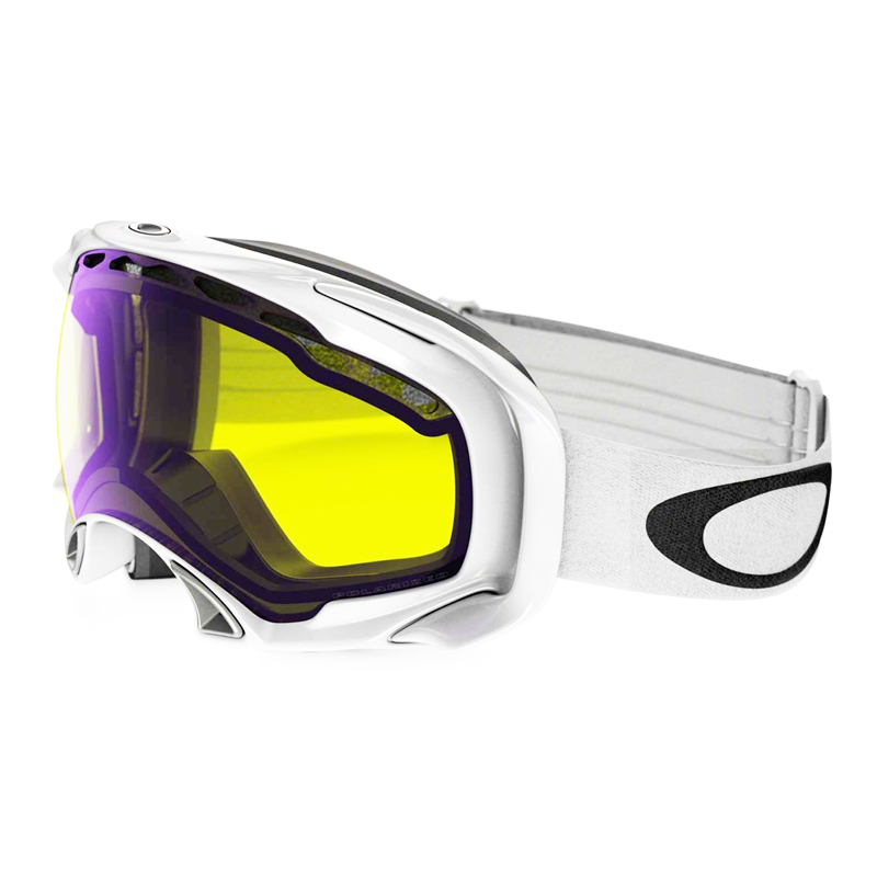 New Oakley Splice Polished White/High Intensity Yellow Goggles