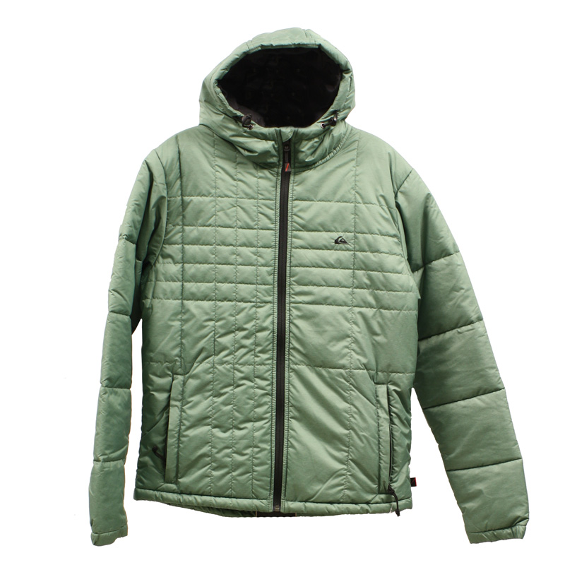 New Quiksilver Nomad Hooded Jacket Green