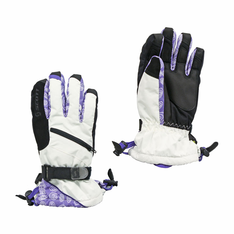 New Scott Terrain Gloves Junior White Purple