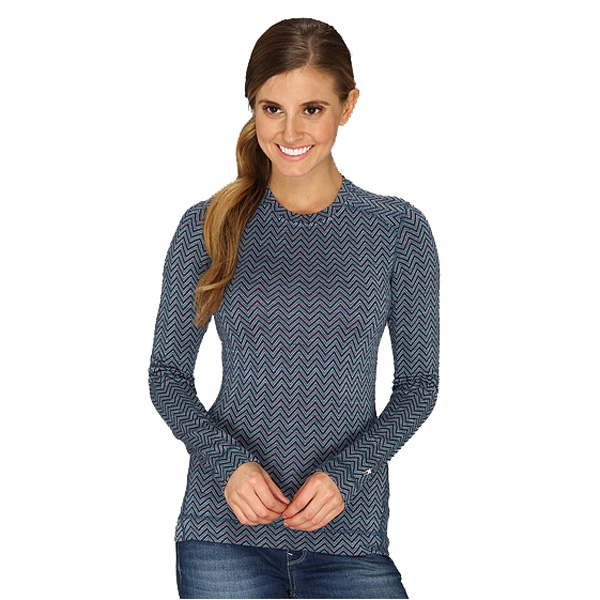New Smartwool Midweight Pattern Crew Women's Baselayer
