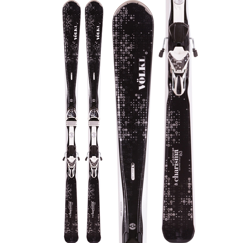 New Volkl Charisma 2016 Women's Skis with Bindings