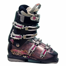 Used Nordica Hot Rod 80W Ski Boots Black Purple