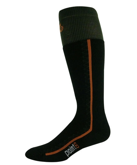 Point6 Snowboard Medium OTC Olive Socks