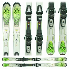 Used 2011 K2 Mammoth Mtn Skis with Bindings green
