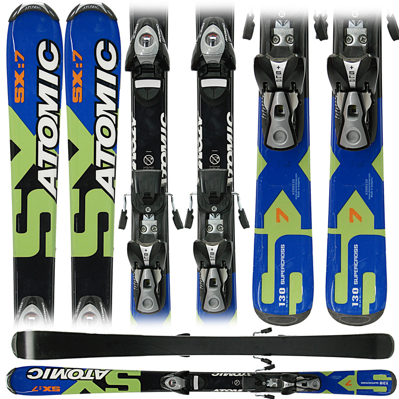 Used Atomic Supercross SX7 Junior Skis with Bindings