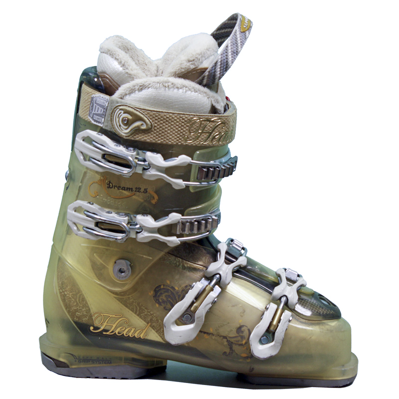 Used Head Dream 12.5 Ski Boots Transparent Pearl