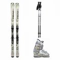 Used Head Rev 70 Skis with Bindings + Nordica One S Ski Boots + Adjustable Poles Package Complete Women's