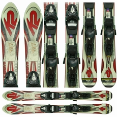 Used K2 Comanche Mammoth Mtn Skis with Bindings red Junior