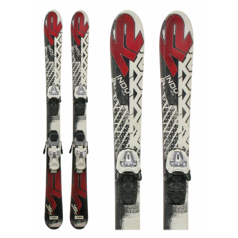 Used K2 Indy JSL10 Junior Skis with Bindings