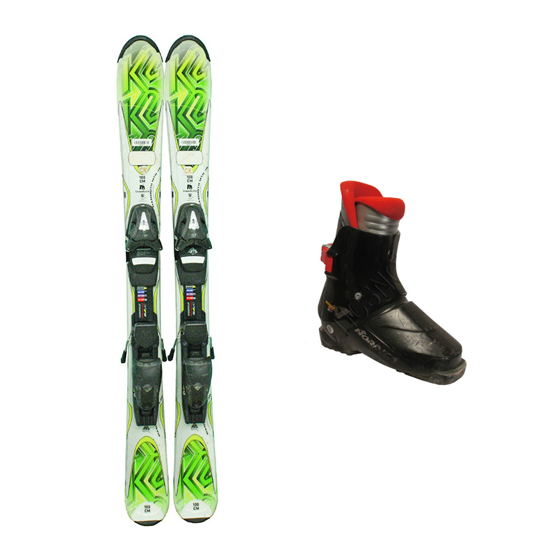 Used K2 Mammoth Mountain Junior Skis with Bindings + Nordica Super N Ski Boots Junior Package Complete