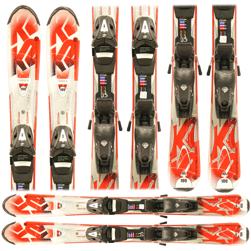Used K2 Strike Jr Junior Skis with Bindings