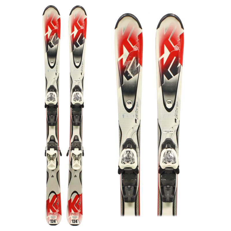 Used K2 Strike Skis with Bindings Junior