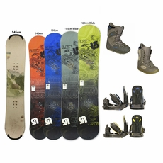 Used Burton Snowboard with Burton Boots and Bindings Package Complete Women's