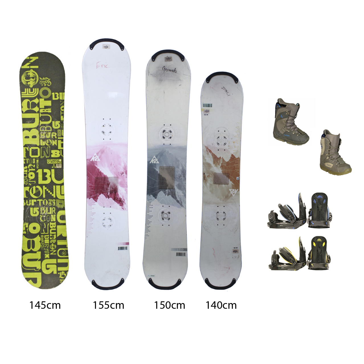 Used K2 Snowboard with Burton Boots and Bindings Package Complete Women's