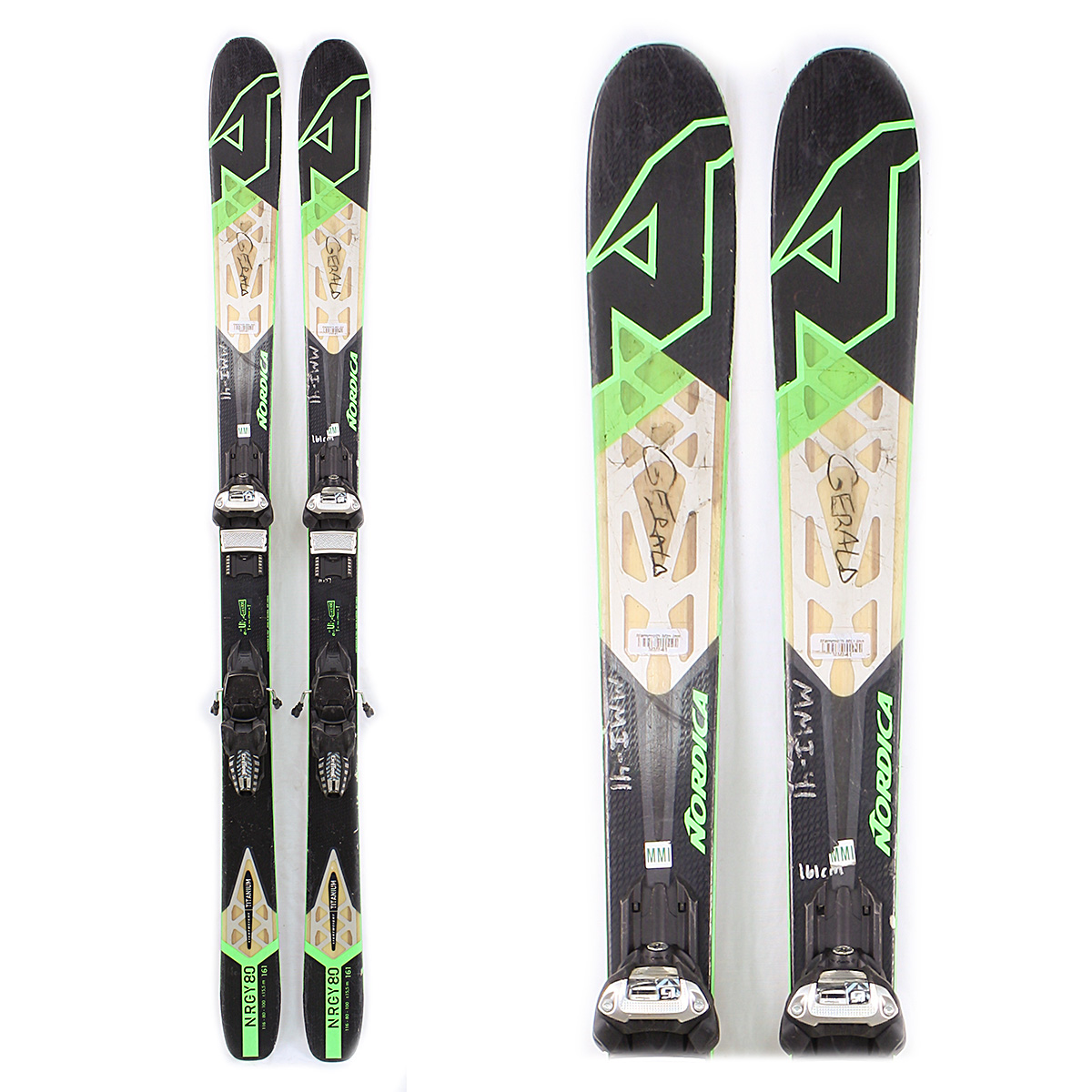 Used Nordica NRGY 80 2016 Men Skis with Bindings