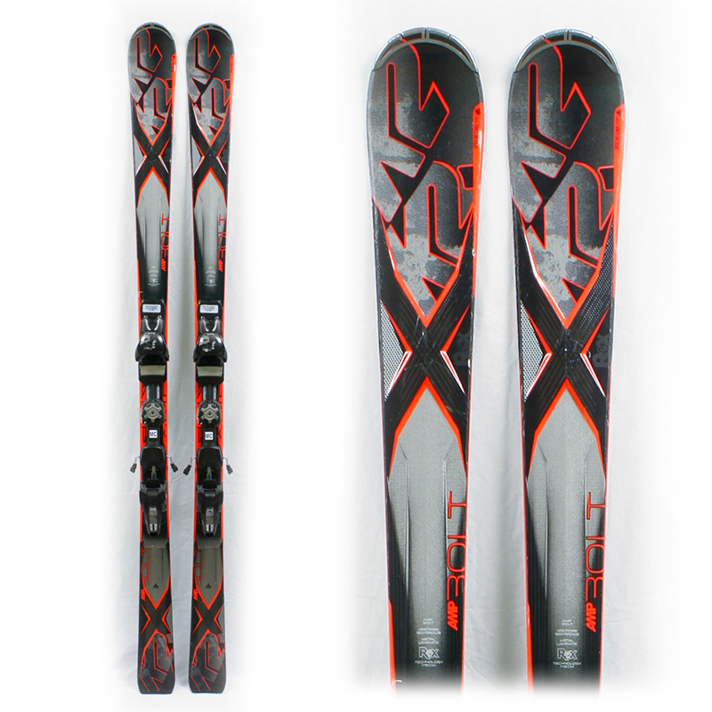 Used Performance 2014 K2 AMP Bolt Skis with Bindings