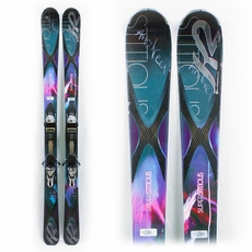 Used Performance 2014 K2 Superstitious 84 Skis with Bindings