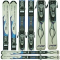 Used Rossignol Roc X Skis with Rossignol Bindings Blue Bargain Bin