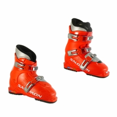 Used Salomon Performa T2 T3 Junior Ski Boots Red