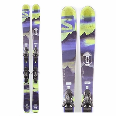 Used Salomon Q-85 2016 Men Skis with Bindings
