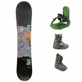 Used Salomon Snowboard Burton Boots and Bindings Junior Package Complete