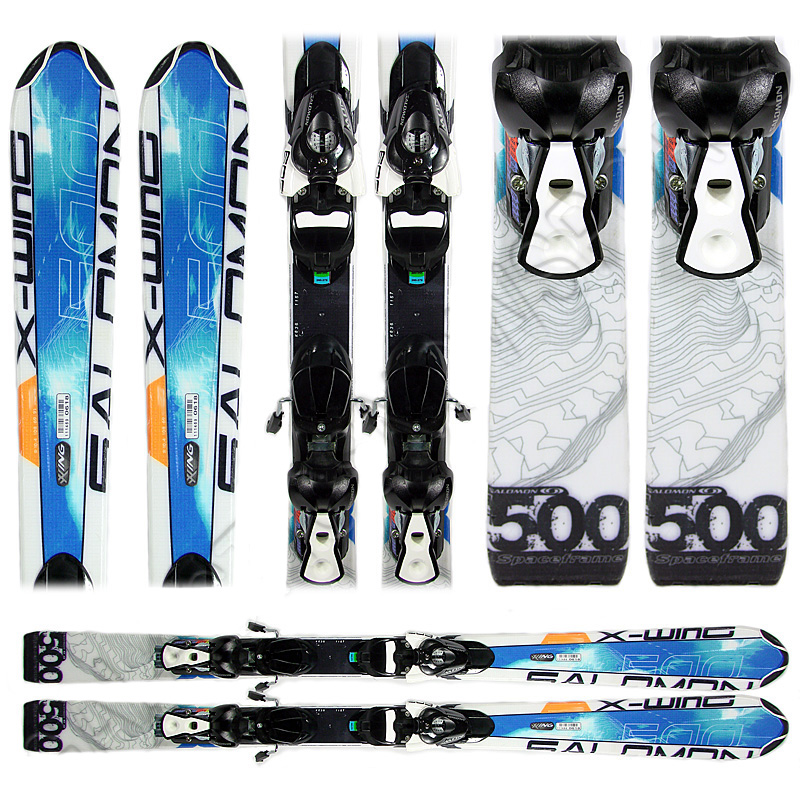 Used Salomon X Wing 500 Snow Skis with Bindings