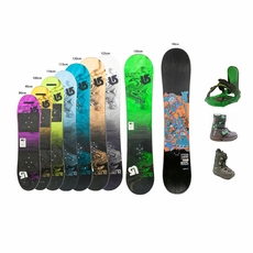 Used Snowboard Boots and Bindings Junior Package Complete