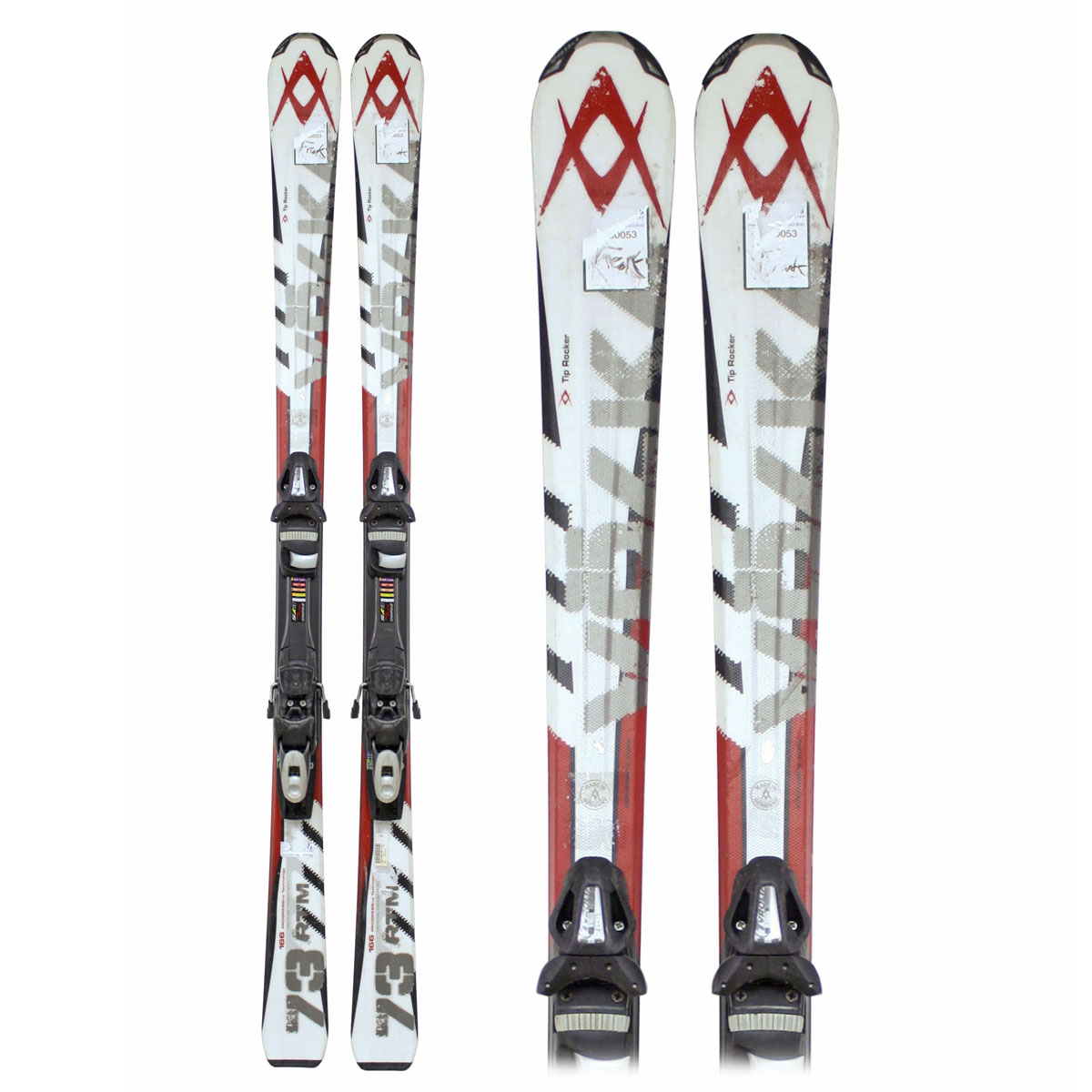 Used Volkl RTM 73 Skis with Bindings