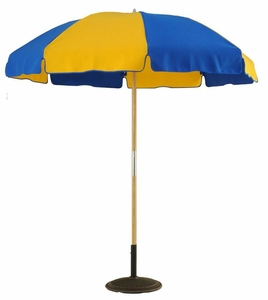 7.5 ft. Wooden Beach Pop-up With Steel Ribs, Pointed Bottom Pole