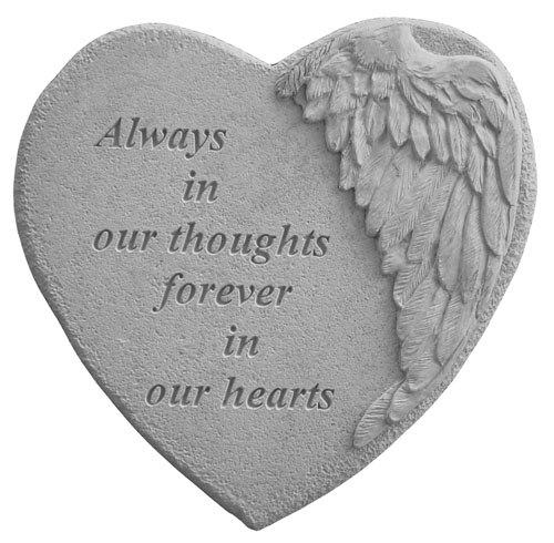 Always In Our Thoughts - Memory Stone