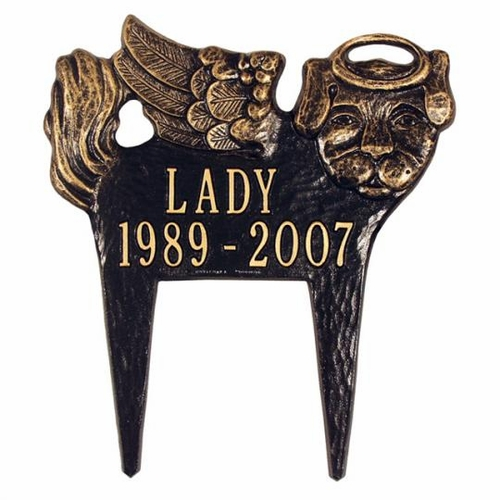Personalized Angel Dog Marker