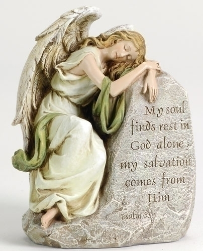 Angel Memorial Statue - My Soul Finds Rest