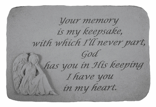 Angel Memorial Stone - Your Memory Is My Keepsake