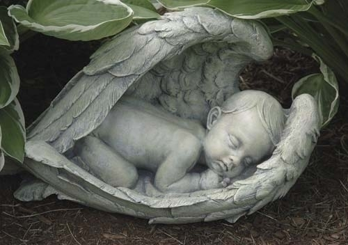 Baby in Angel Wings Loss of Infant Memorial Gift