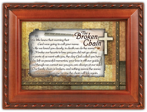 Broken Chain Music Keepsake Memory Box Sympathy Gift