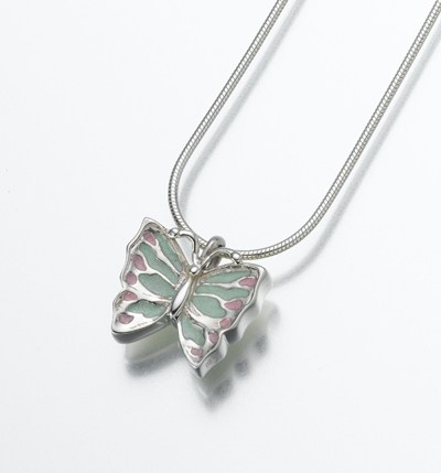 Butterfly Cremation Jewelry Urn Pendant