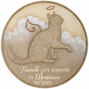 Cat Memorial Stone - Friends Live Forever