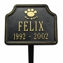 Cat Paw Memorial Marker - Personalized