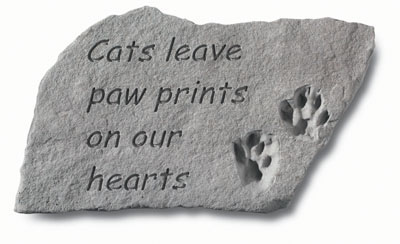 Cats Leave Paw Prints - Remembrance Stone